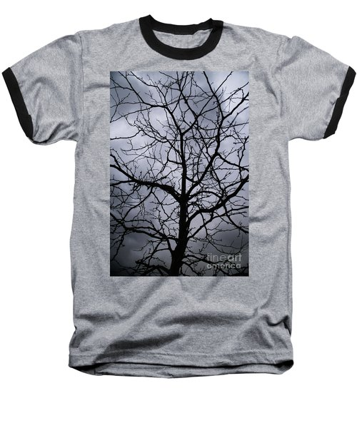 Baseball T-Shirt featuring the photograph On Their Shoulders Held The Sky by Linda Shafer