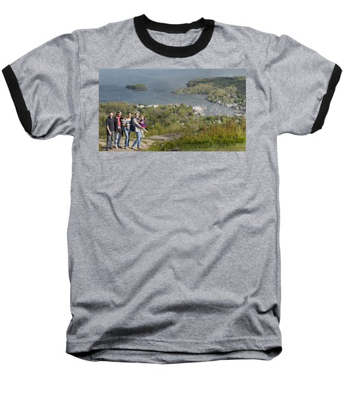 Baseball T-Shirt featuring the photograph On Top Of Mount Battie by Daniel Hebard