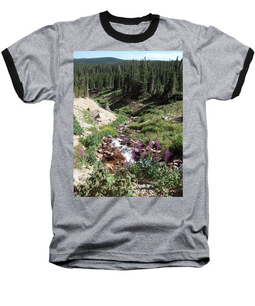 On Top Of The Continental Divide In The Rocky Mountains Baseball T-Shirt