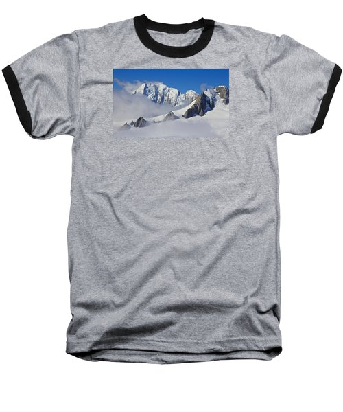 On Top Of The World Baseball T-Shirt by Venetia Featherstone-Witty