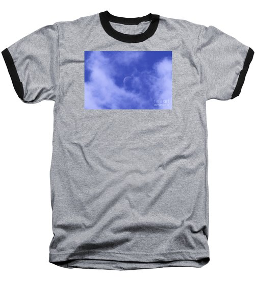 Baseball T-Shirt featuring the photograph Once In A Blue Moon by Judy Whitton
