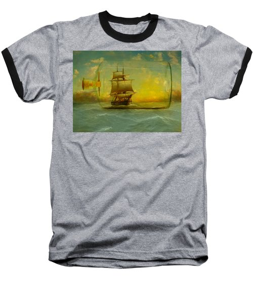 Once In A Bottle Baseball T-Shirt by Jeff Burgess