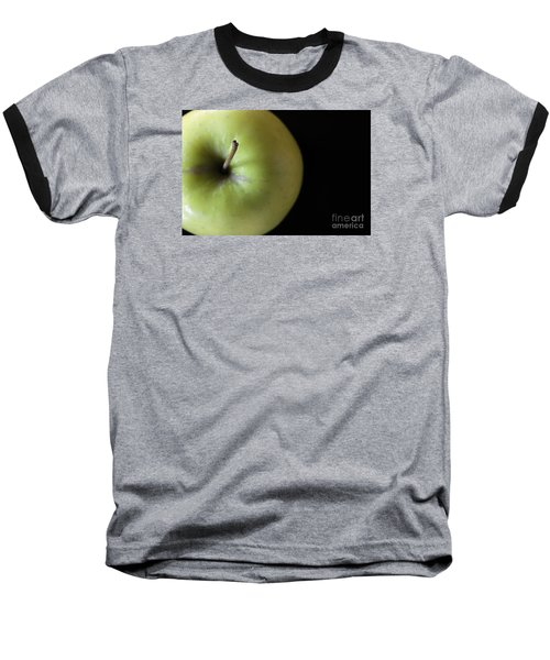 One Apple - Still Life Baseball T-Shirt by Wendy Wilton