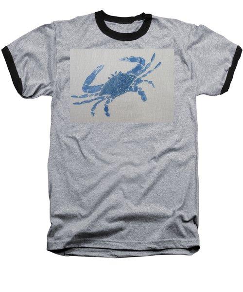 One Blue Crab On Sand Baseball T-Shirt