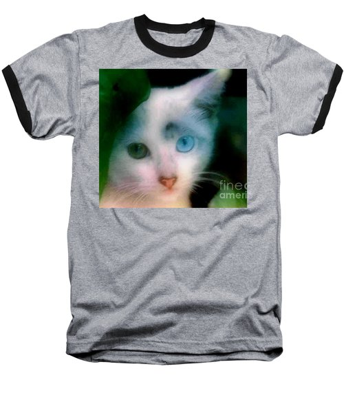 One Blue One Green Cat In New Olreans Baseball T-Shirt