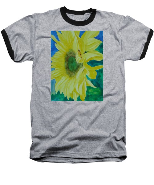 One Bright Sunflower Colorful Original Art Floral Flowers Artist K. Joann Russell Decor Art  Baseball T-Shirt