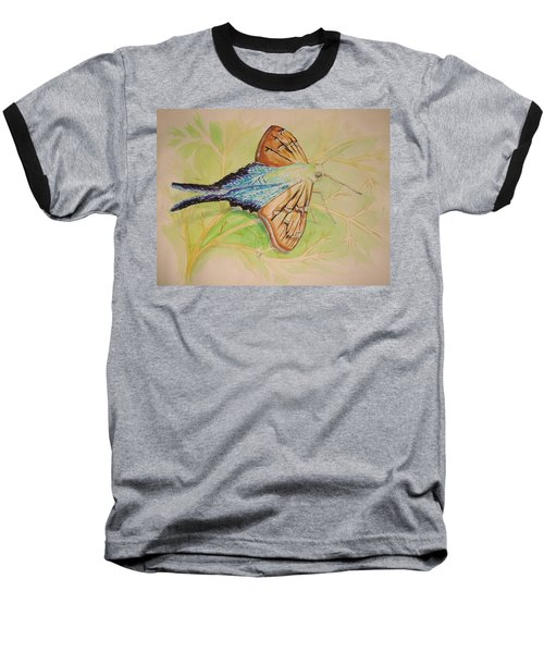 One Day In A Long-tailed Skipper Moth's Life Baseball T-Shirt