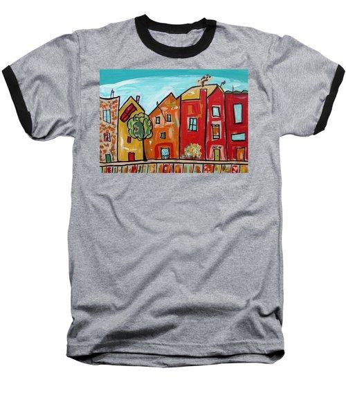 One House Has A Screen Door Baseball T-Shirt by Mary Carol Williams