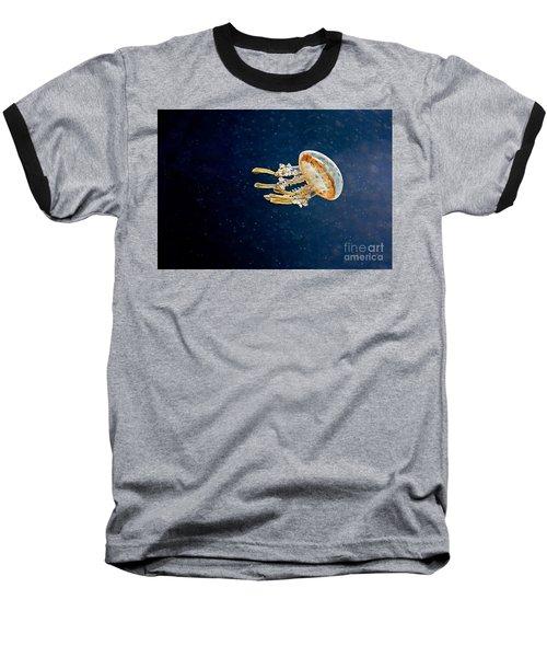 One Jelly Fish Art Prints Baseball T-Shirt by Valerie Garner