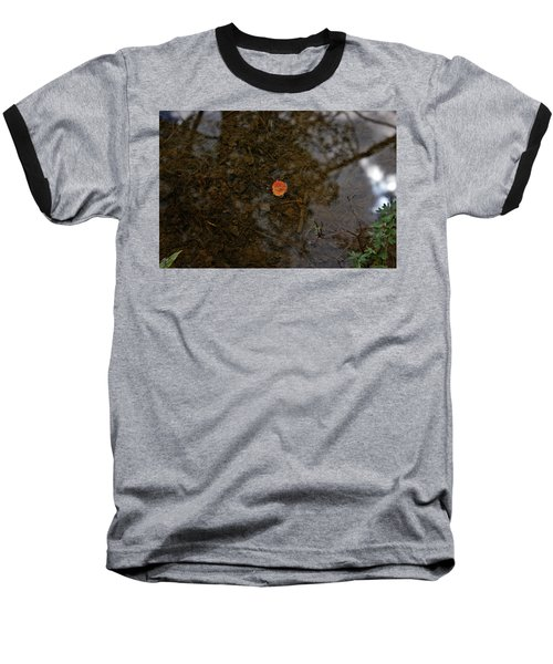 Baseball T-Shirt featuring the photograph One Leaf by Jeremy Rhoades