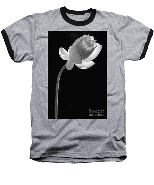 One Lotus Bud Baseball T-Shirt