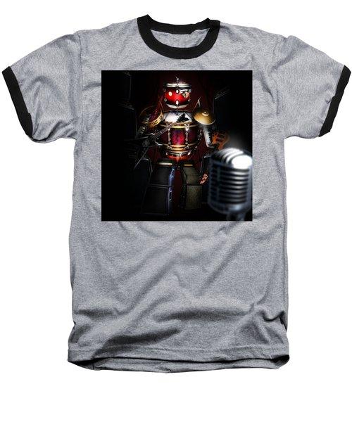 One Man Band Baseball T-Shirt by Alessandro Della Pietra