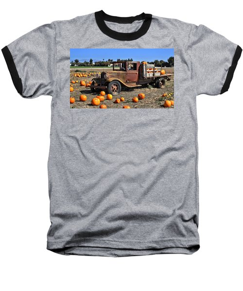 Baseball T-Shirt featuring the photograph One More Pumpkin by Michael Gordon
