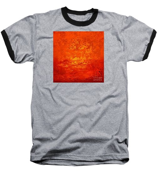 One Night In Old Shanghai By Rjfxx.-original Minimalist Abstract Art Painting Baseball T-Shirt by RjFxx at beautifullart com