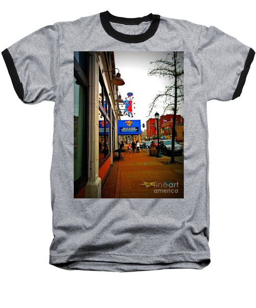 One Of Ten Great Streets Baseball T-Shirt by Kelly Awad