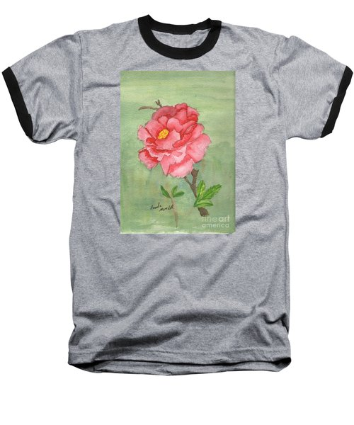 One Rose Baseball T-Shirt by Pamela  Meredith