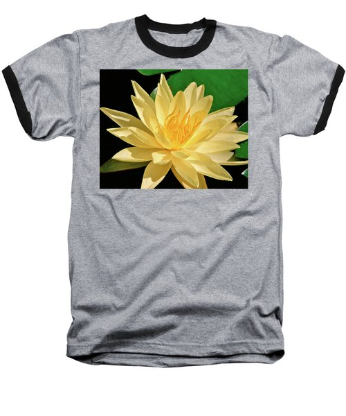 One Water Lily  Baseball T-Shirt by Ed  Riche