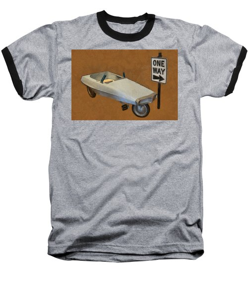 One Way Pedal Car Baseball T-Shirt