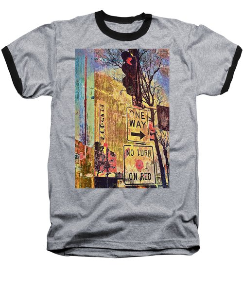 One Way To Uptown Baseball T-Shirt by Susan Stone