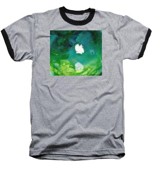 One White Baseball T-Shirt