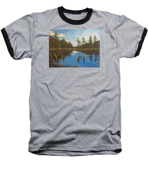 O'neal Lake Baseball T-Shirt by Wendy Shoults