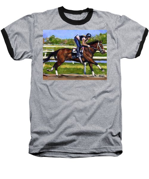 Baseball T-Shirt featuring the painting Onlyforyou by Molly Poole