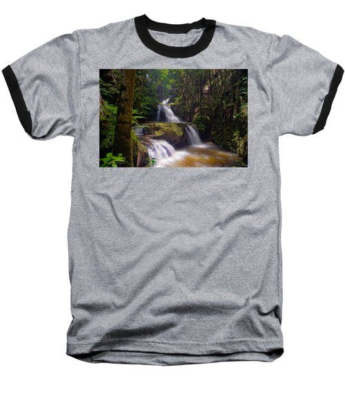 Baseball T-Shirt featuring the photograph Onomea Falls by Jim Thompson