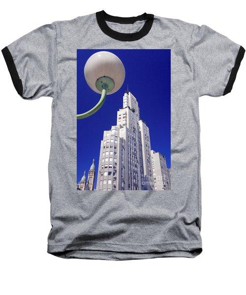 Baseball T-Shirt featuring the photograph Onyric City by Bernardo Galmarini