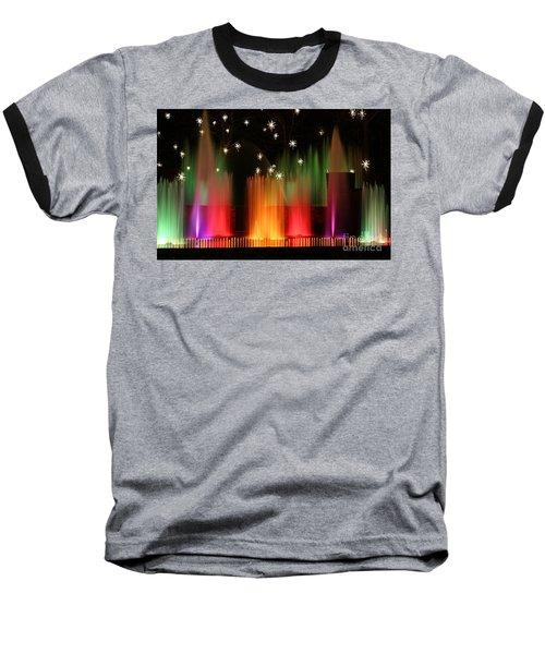 Open Air Theatre Rainbow Fountain Baseball T-Shirt