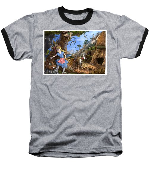 Baseball T-Shirt featuring the painting Open Sesame by Reynold Jay