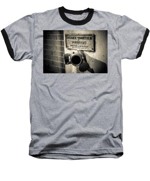 Open Sprinkler Baseball T-Shirt by Melinda Ledsome