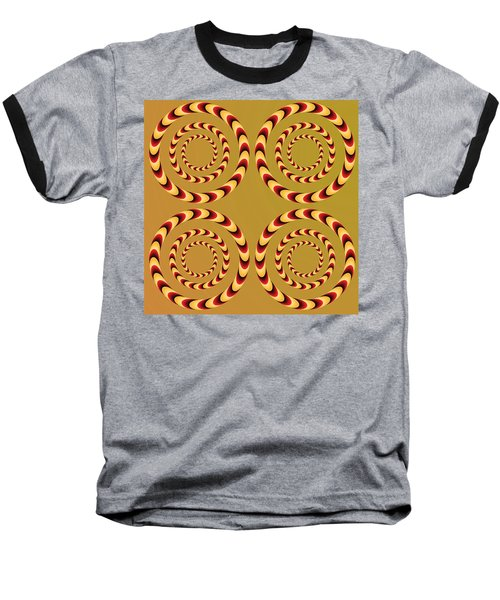 Optical Ilusions Summer Spin Baseball T-Shirt by Sumit Mehndiratta