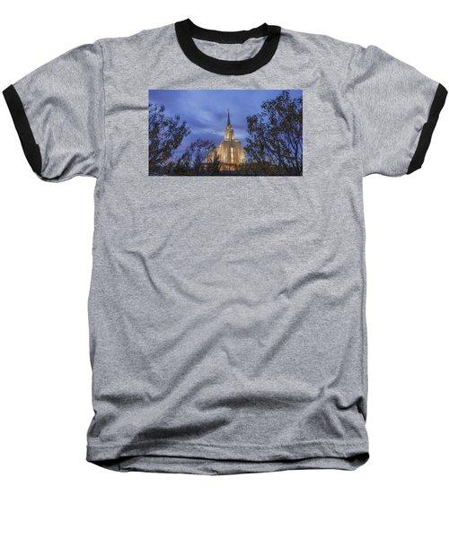 Oquirrh Mountain Temple II Baseball T-Shirt