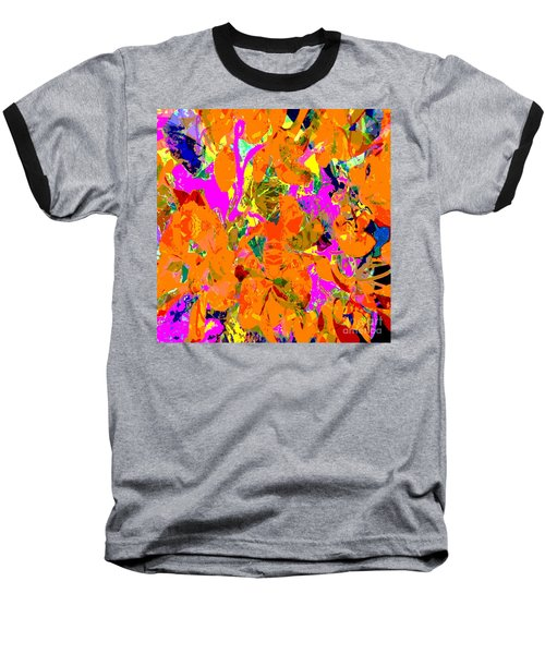Baseball T-Shirt featuring the digital art Orange Abstract by Barbara Moignard