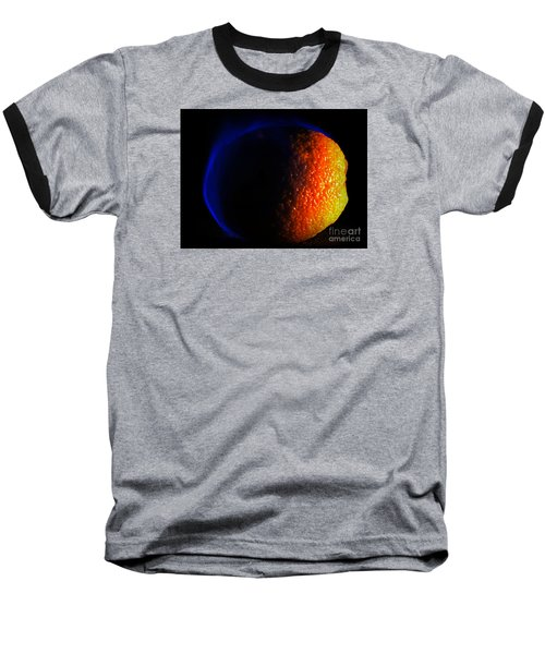 Orange And Blue Baseball T-Shirt by Paul  Wilford