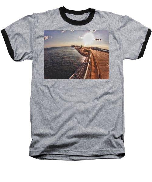 Orange Beach From Perdido Bridge Baseball T-Shirt by Michael Thomas