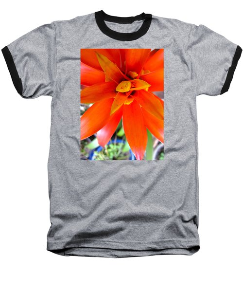 Orange Bromeliad Baseball T-Shirt
