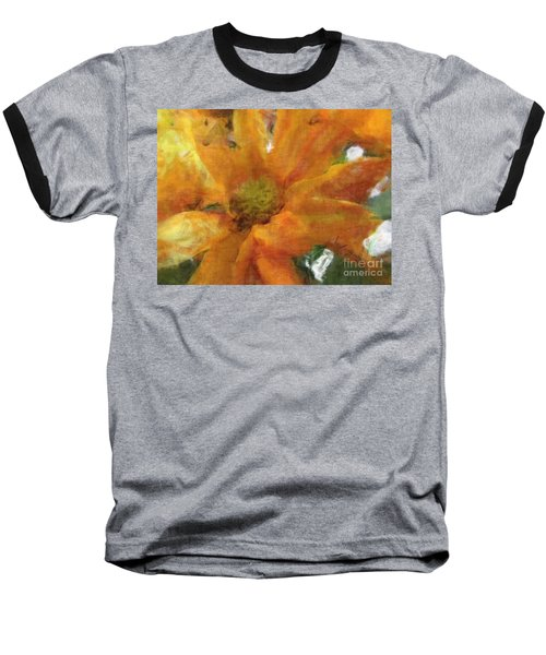 Orange Chrysanthemem Photoart Baseball T-Shirt