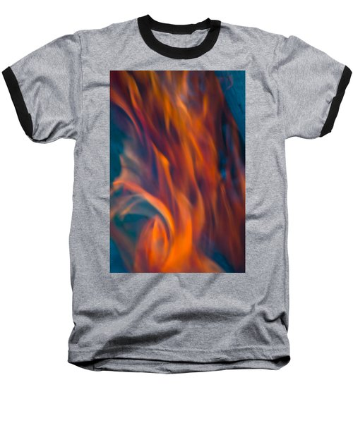 Orange Fire Baseball T-Shirt