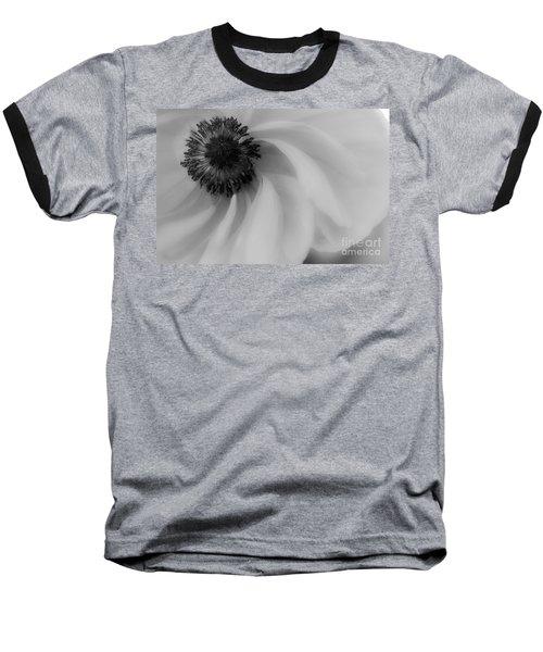 Orange Flower In Black And White Baseball T-Shirt
