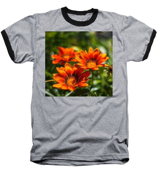 Baseball T-Shirt featuring the photograph Orange Flowers by Jane Luxton