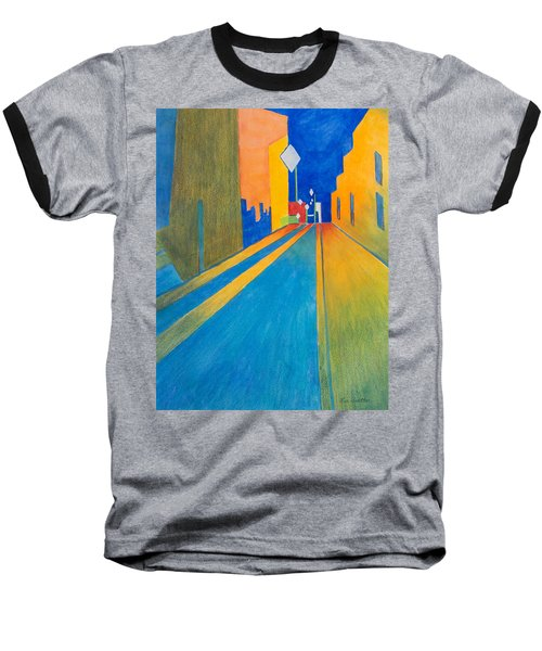 Orange France At Night Baseball T-Shirt by Lee Beuther