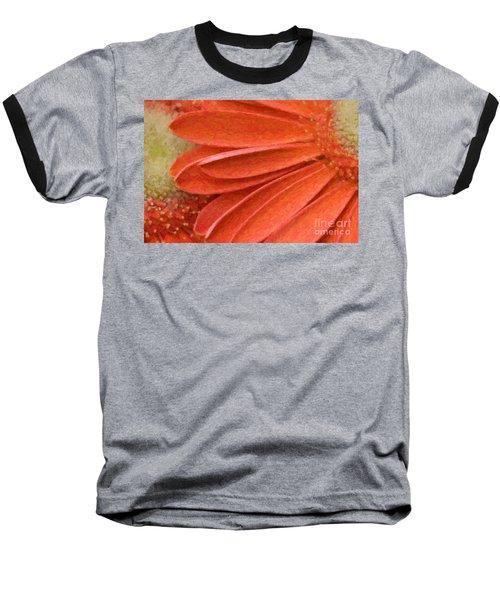 Orange Gerber Daisy Painting Baseball T-Shirt