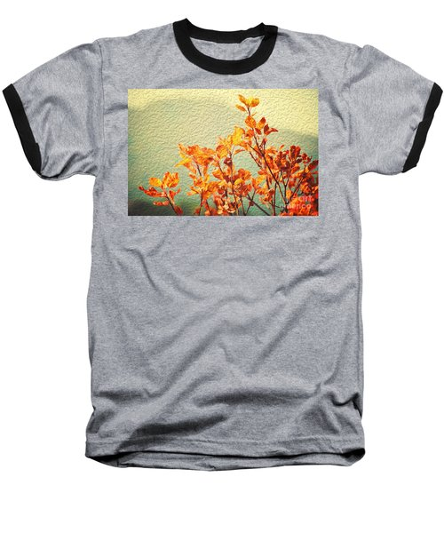 Baseball T-Shirt featuring the photograph Orange Leaves by Yew Kwang