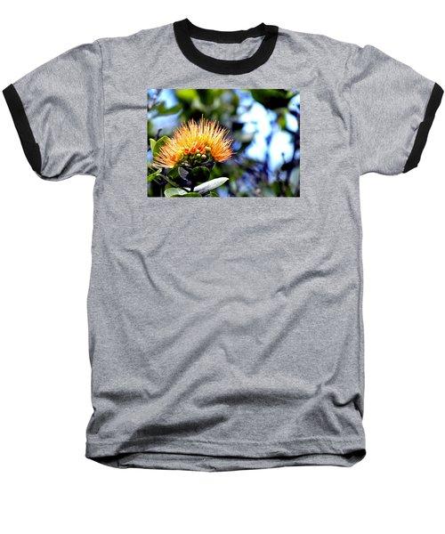 Orange Lehua On Volcano Ranch Baseball T-Shirt