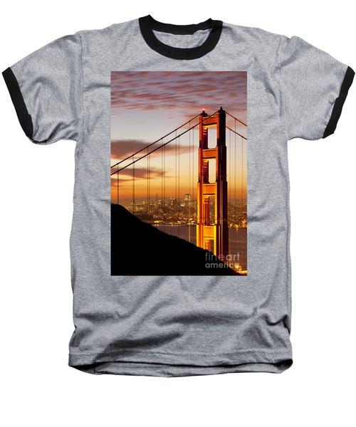 Orange Light At Dawn Baseball T-Shirt