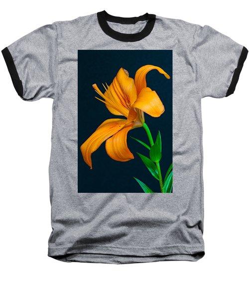 Orange Lily Profile Baseball T-Shirt