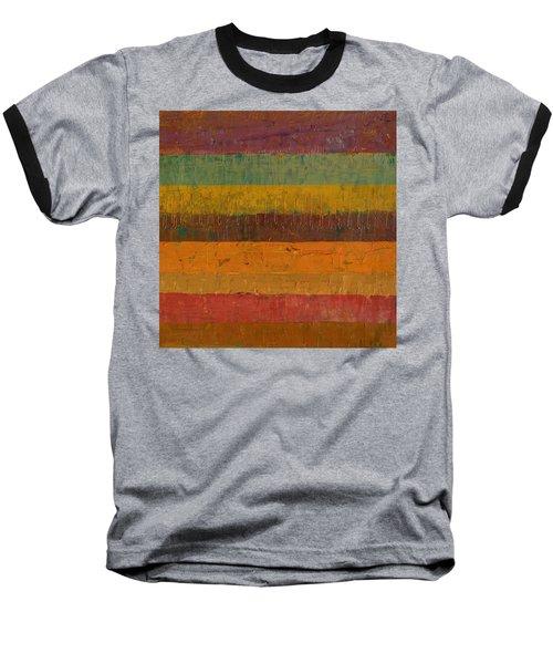 Orange Line Baseball T-Shirt