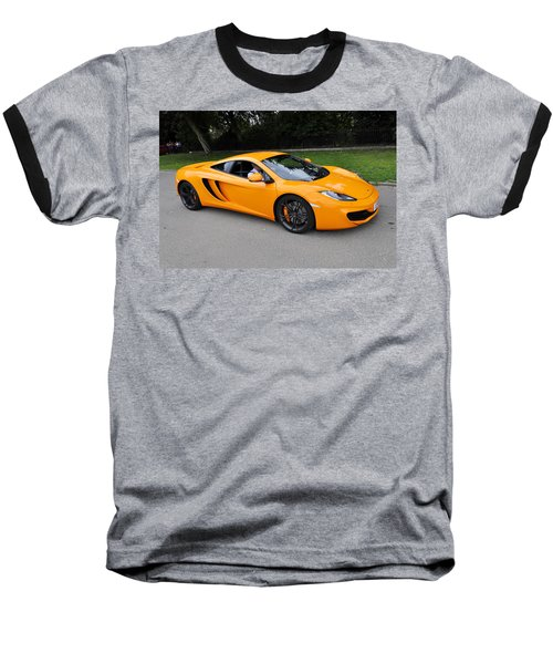 Orange Mclaren Mp4-12c Baseball T-Shirt