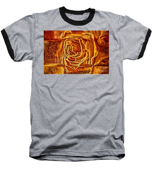 Orange Rose Baseball T-Shirt
